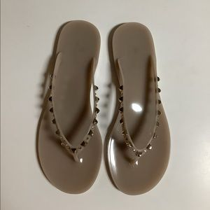 Browns Couture jelly stud/rhinestone thong sandals